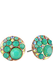 Betsey Johnson - Blue & Rose Gold Boost Crystal Stud Earrings