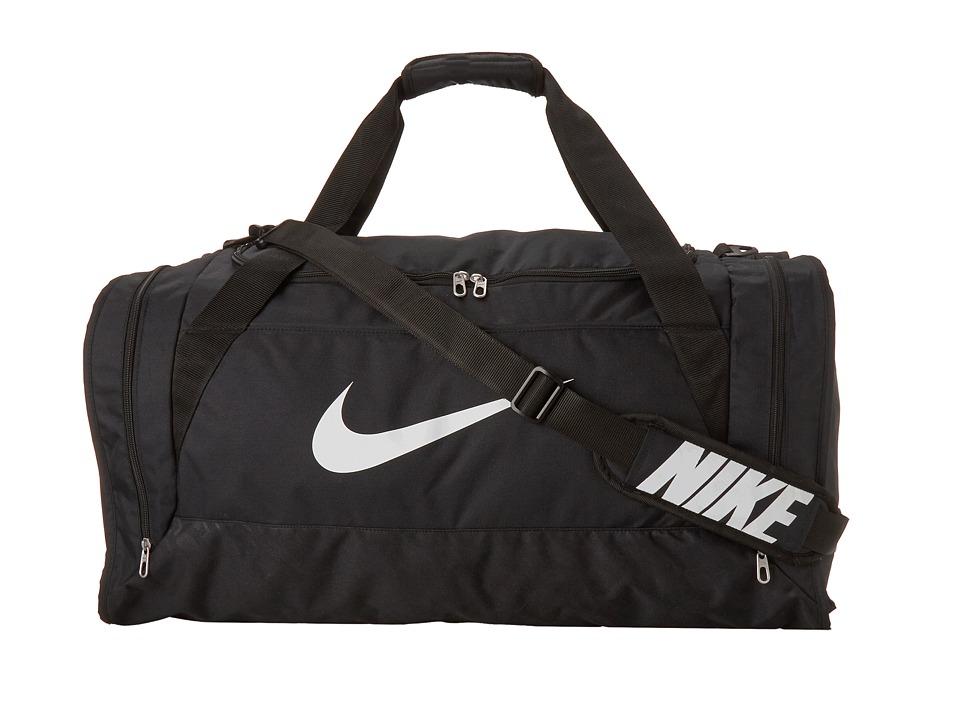 Nike - Brasilia 6 Large Duffel (Black/Black/White Multi Snake) Duffel Bags