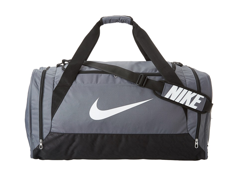 Nike - Brasilia 6 Large Duffel (Flint Grey/Black/White) Duffel Bags