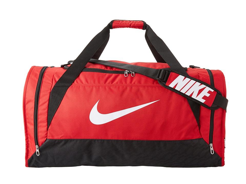 Nike - Brasilia 6 Large Duffel (Gym Red/Black/White) Duffel Bags