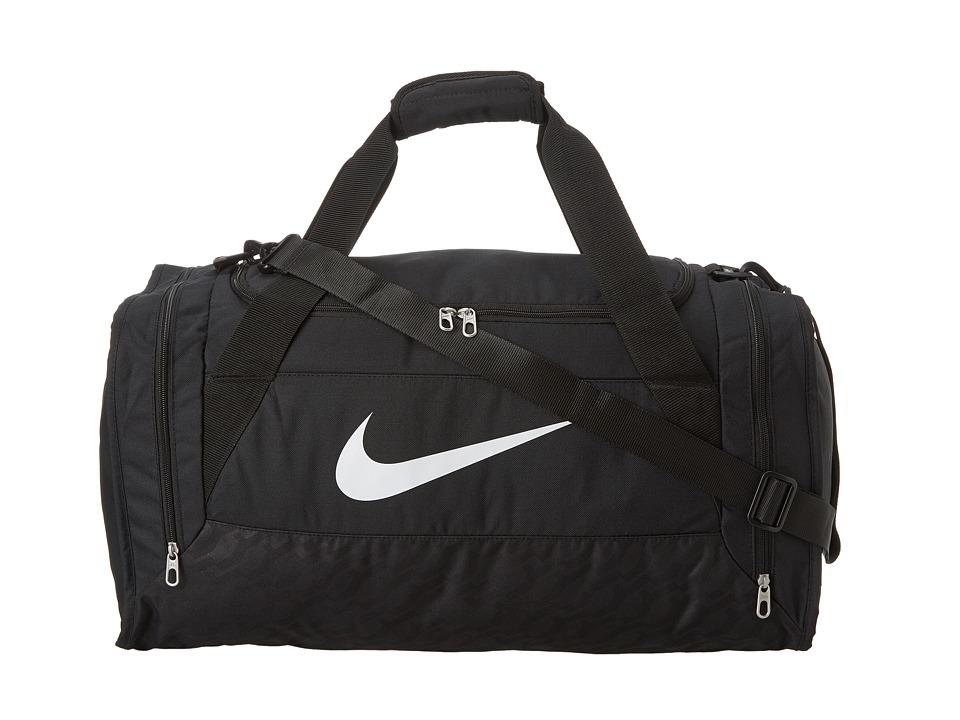 Nike - Brasilia 6 Medium Duffel (Black/Black/White Multi Snake) Duffel Bags