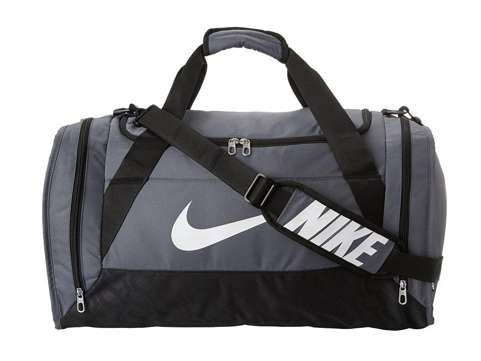 Nike - Brasilia 6 Medium Duffel (Flint Grey/Black/White) Duffel Bags