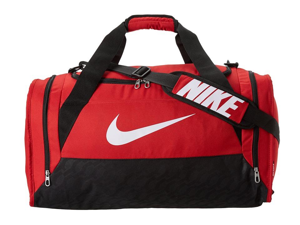 Nike - Brasilia 6 Medium Duffel (Gym Red/Black/White) Duffel Bags