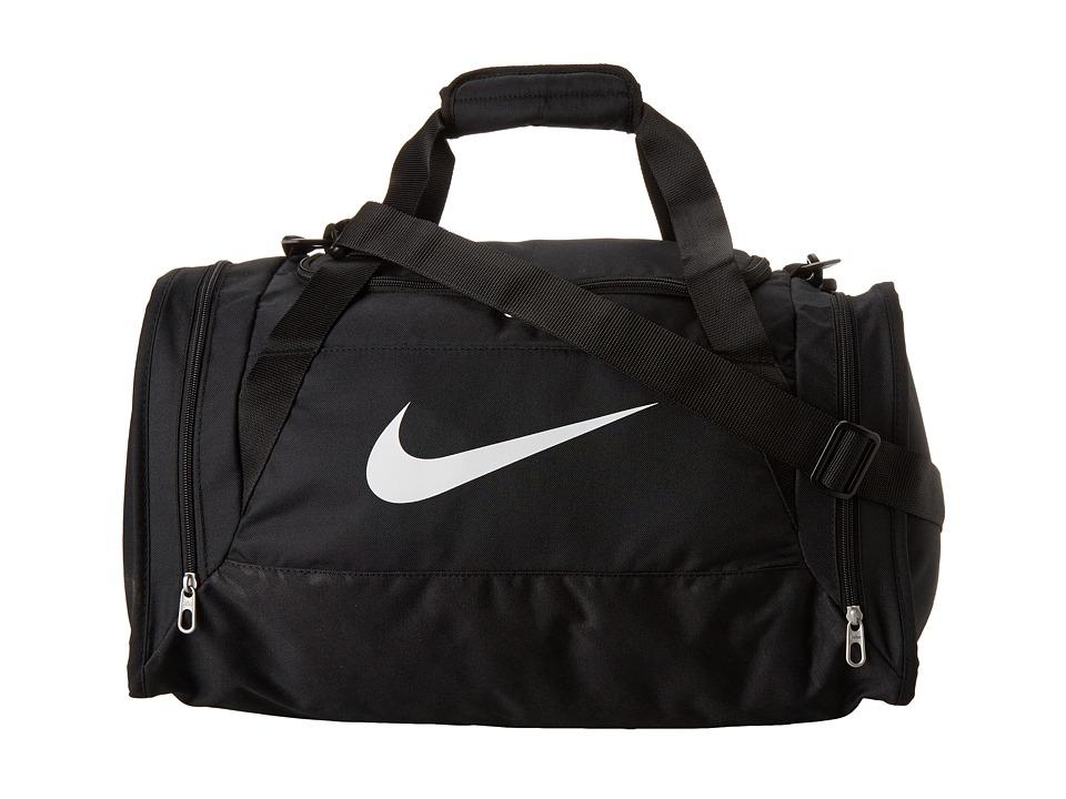 Nike - Brasilia 6 Small Duffel (Black/Black/White Multi Snake) Duffel Bags