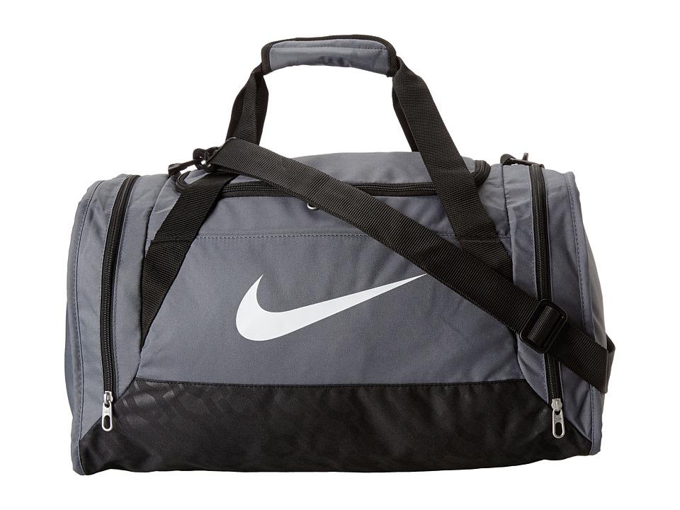 Nike - Brasilia 6 Small Duffel (Flint Grey/Black/White) Duffel Bags