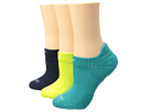 Nike - Dri-Fit Cushion No Show 3-Pair Pack (Lime Green/Teal/Navy Blue)