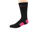 Nike - Nike Elite Basketball Crew 1-Pair Pack (Black/Vivid Pink/Vivid Pink)