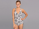 Lole - Madeira One Piece Swimsuit (White Scarf Print) - Apparel<br />