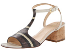 Cole Haan - Luci Low Sandal (Striped Chestnut Lizard Print) - Footwear
