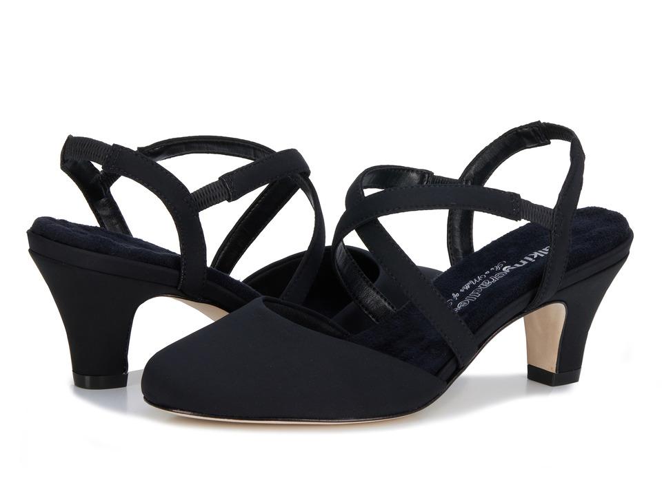 Rose Petals - Caliente (Black Micro) Women's Shoes, wide width