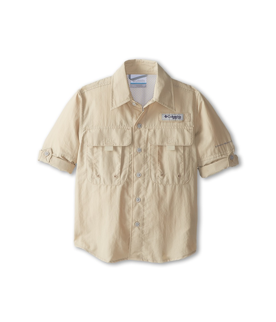Columbia Kids - Bahamatm L/S Shirt (Little Kids/Big Kids) (Fossil) Boys Short Sleeve Button Up