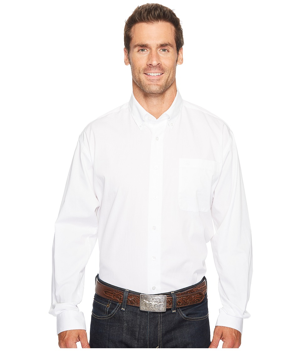 CINCH Solid Long Sleeve (White) Men's Clothing
