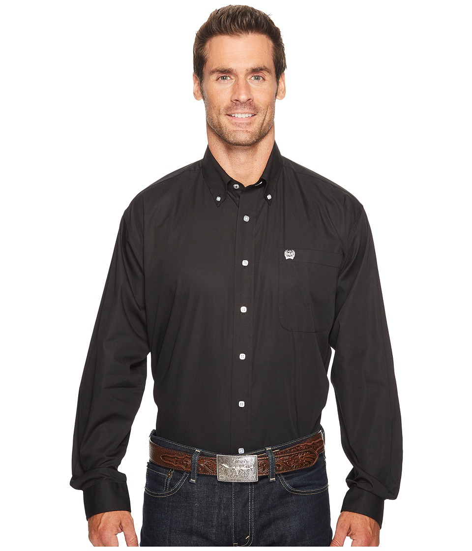 CINCH Solid Long Sleeve (Black) Men's Clothing