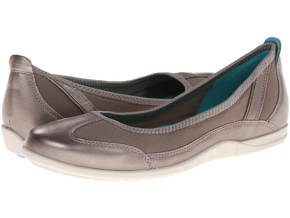 Ecco Bluma Summer Ballerina (Moon Rock) Women's Shoes