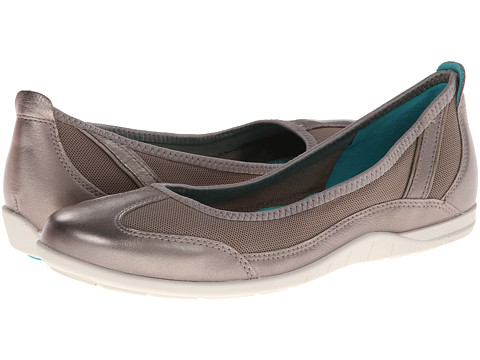ECCO - Bluma Summer Ballerina (Moon Rock) - Footwear