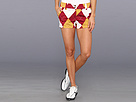 Loudmouth Golf Maroon and Gold Argyle Mini Short