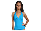 LAUREN Ralph Lauren - Laguna Solids Twist Halterkini Top w/ Molded Cup (Deep Turquoise)
