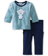 le top - Boys' Little Lambie - Velour Stripe Shirt & French Terry Pant - Lambie Boy (Newborn/Infant)
