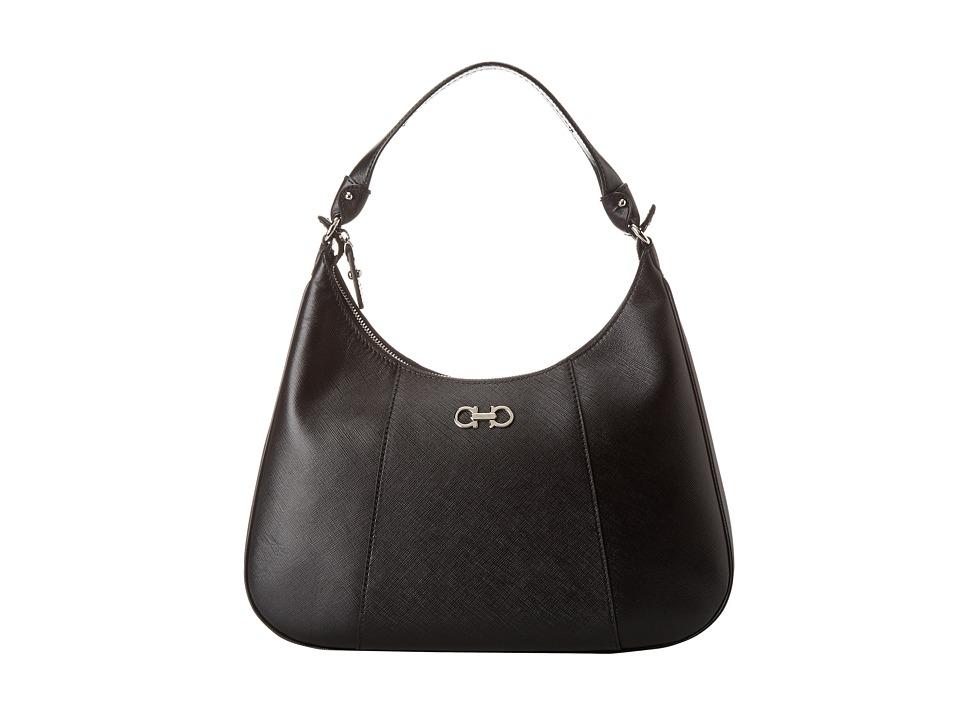 Salvatore Ferragamo - 21E379 Petunia (Nero) Hobo Handbags