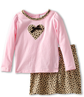 le top - Born to Be Wild Leopard Skort Set (Toddler/Little Kids)