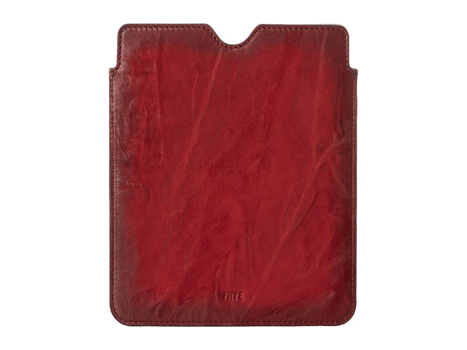 Frye Cameron iPad Sleeve (Burnt Red Antique Soft Vintage) Wallet
