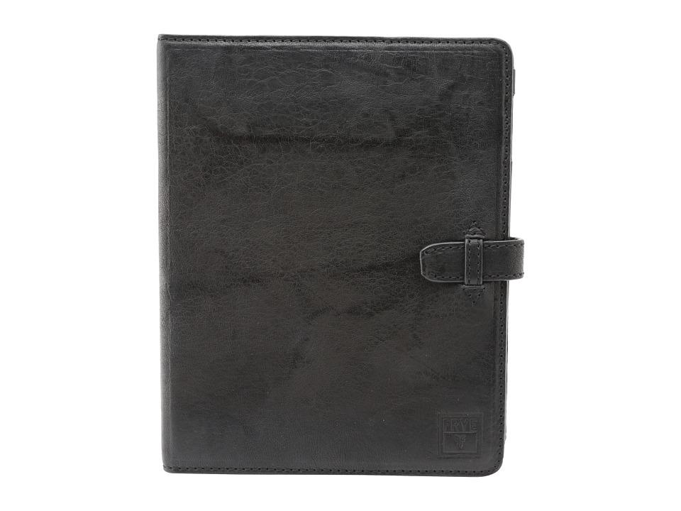 Frye Cameron iPad Case (Black Antique Soft Vintage) Wallet