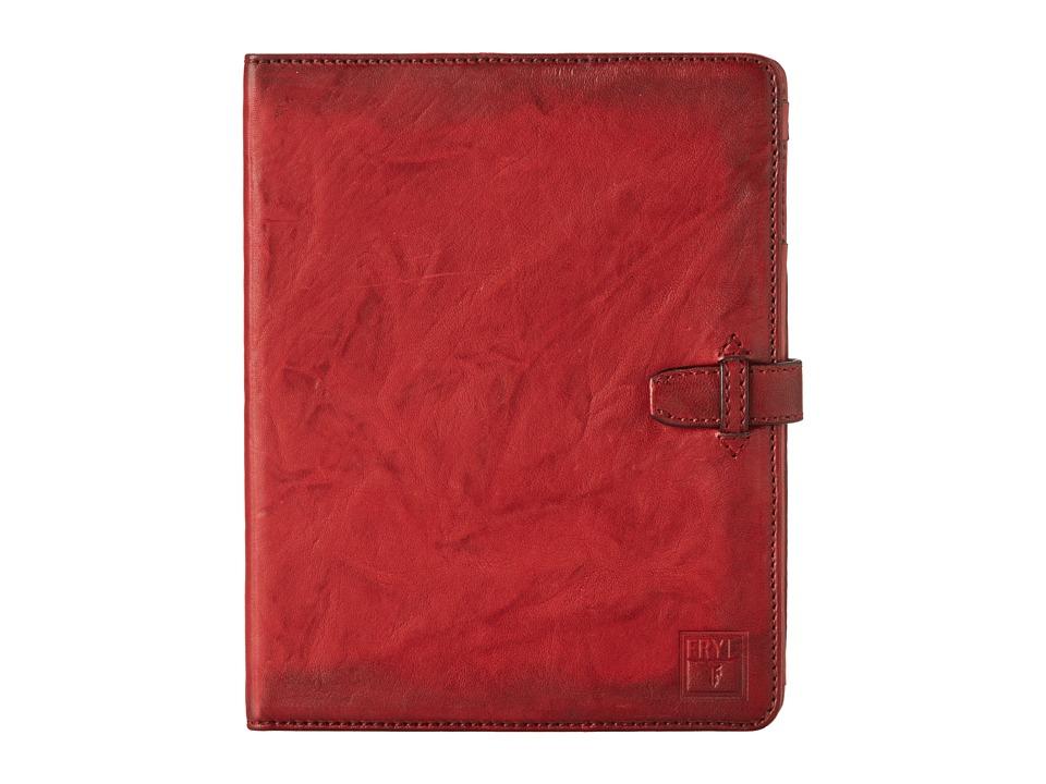 Frye Cameron iPad Case (Burnt Red Antique Soft Vintage) Wallet