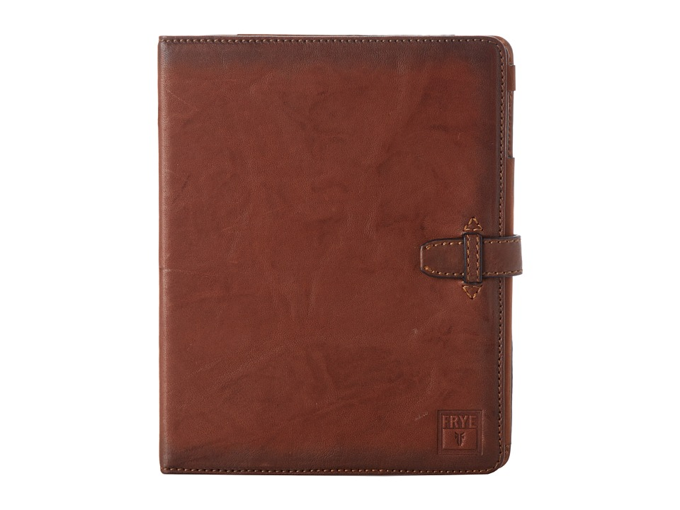 Frye Cameron iPad Case (Cognac Antique Soft Vintage) Wallet