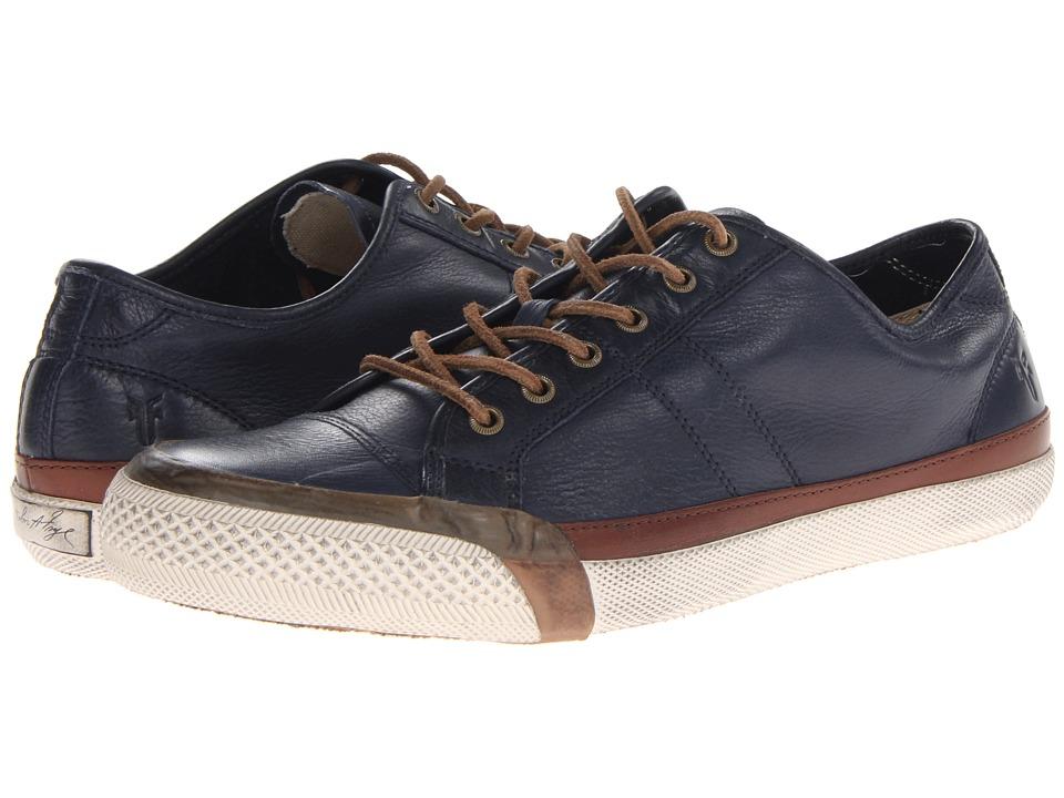 Frye - Greene Low Lace (Navy Soft Vintage Leather) Men