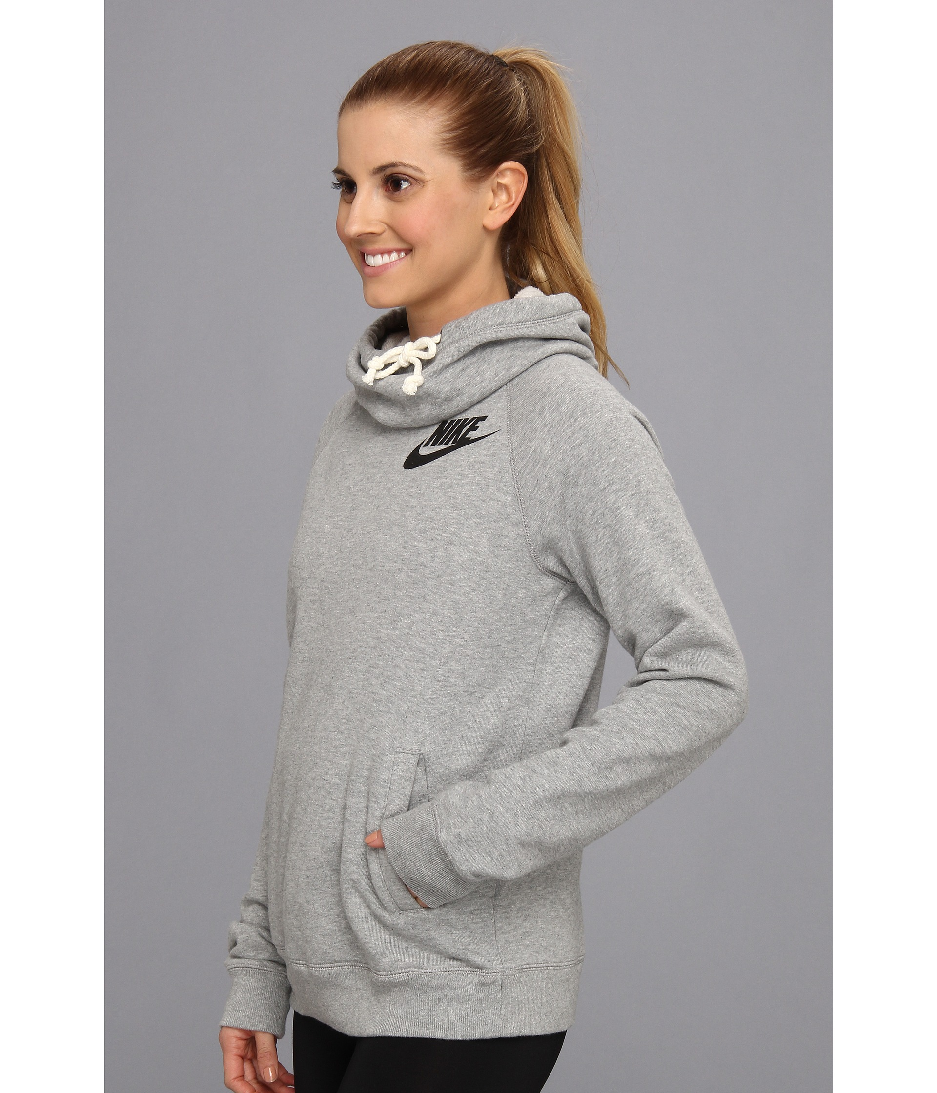 Nike Rally Funnel Neck Hoodie - Zappos.com Free Shipping BOTH Ways