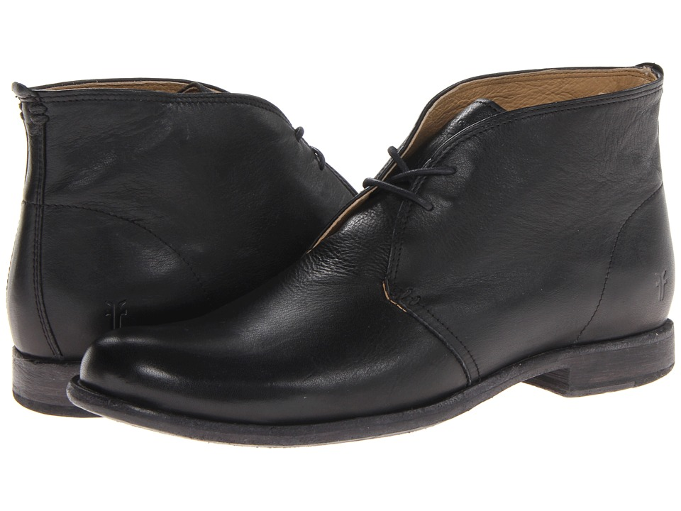 Frye - Phillip Chukka (Black Soft Vintage Leather) Men