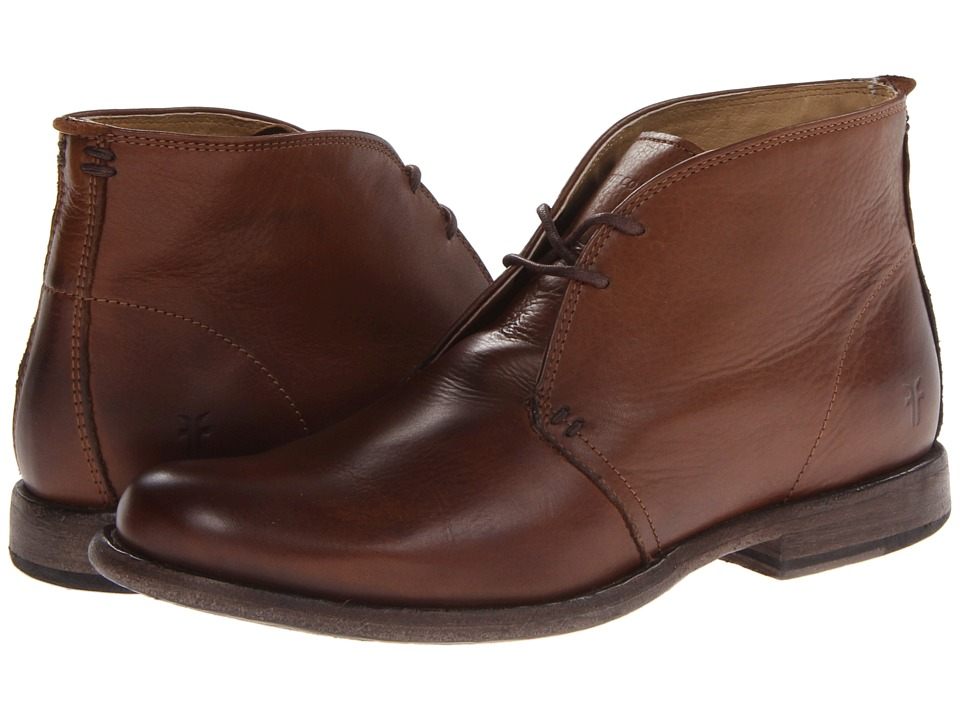 Frye - Phillip Chukka (Cognac Soft Vintage Leather) Men