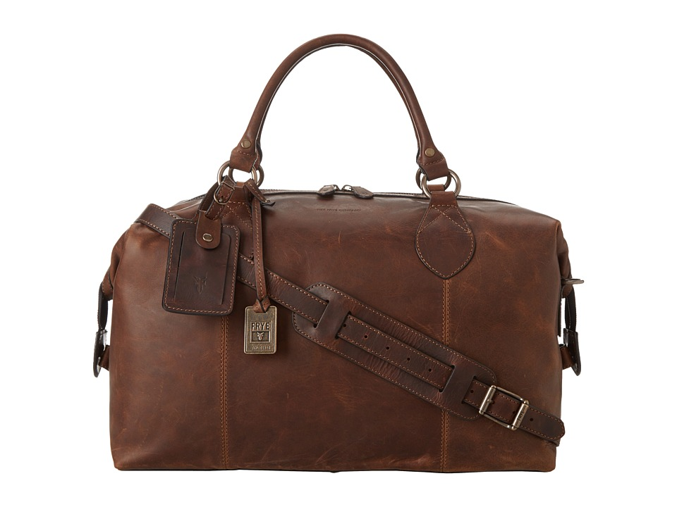 Frye - Logan Overnight (Dark Brown Antique Pull Up) Satchel Handbags