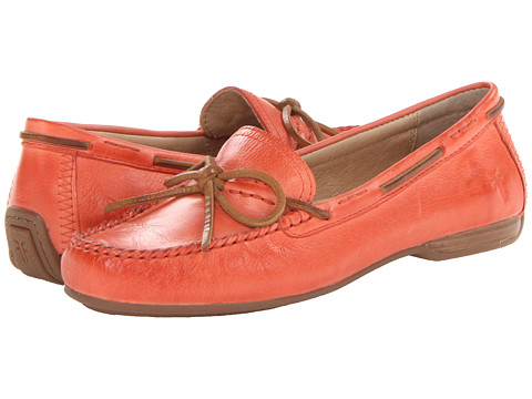 Shop Frye online and buy Frye Janet Tie Coral Soft Vintage Leather Shoes - Frye - Janet Tie (Coral Soft Vintage Leather) - Footwear: Enjoy meeting friends for brunch or wandering your favorite farmer's market in the classic comfort of the Janet Tie loafer from Frye. ; Soft vintage leather upper is hand-stitched and features a burnished finish. ; Leather laces accent the vamp. ; Leather lining for a more comfortable next-to-skin feel. ; Lightly cushioned leather footbed for all-day comfort. ; Rubber outsole delivers excellent traction. ; Imported Measurements: ; Heel Height: 3 4 in ; Weight: 9 oz ; Platform Height: 1 2 in ; Product measurements were taken using size 8, width B - Medium. Please note that measurements may vary by size.