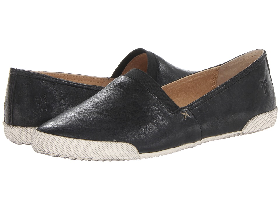 Frye - Melanie Slip On (Black Antique Soft Vintage) Womens Slip on  Shoes