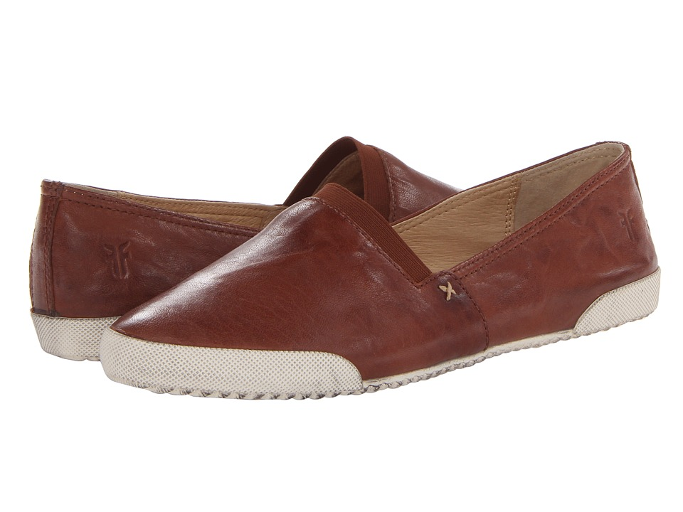 Frye Melanie Slip On (Cognac Antique Soft Vintage) Slip-On Shoes