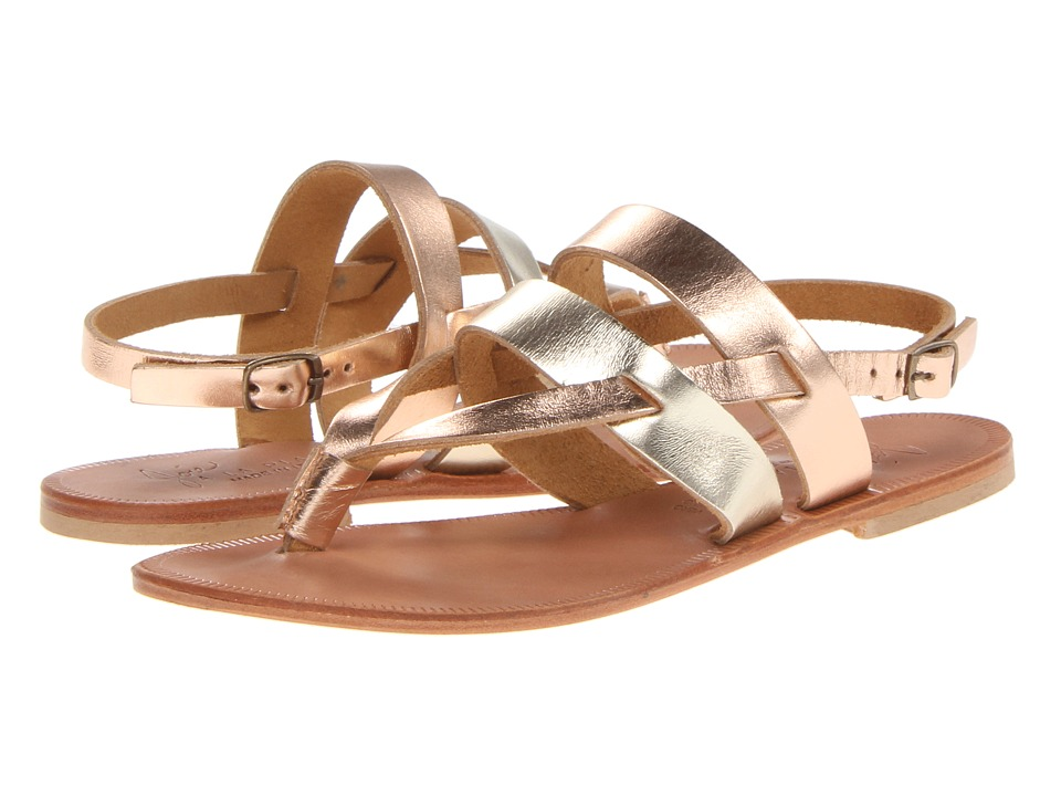 Joie - Positano (Platinum/Rose Gold) Women's Sandals