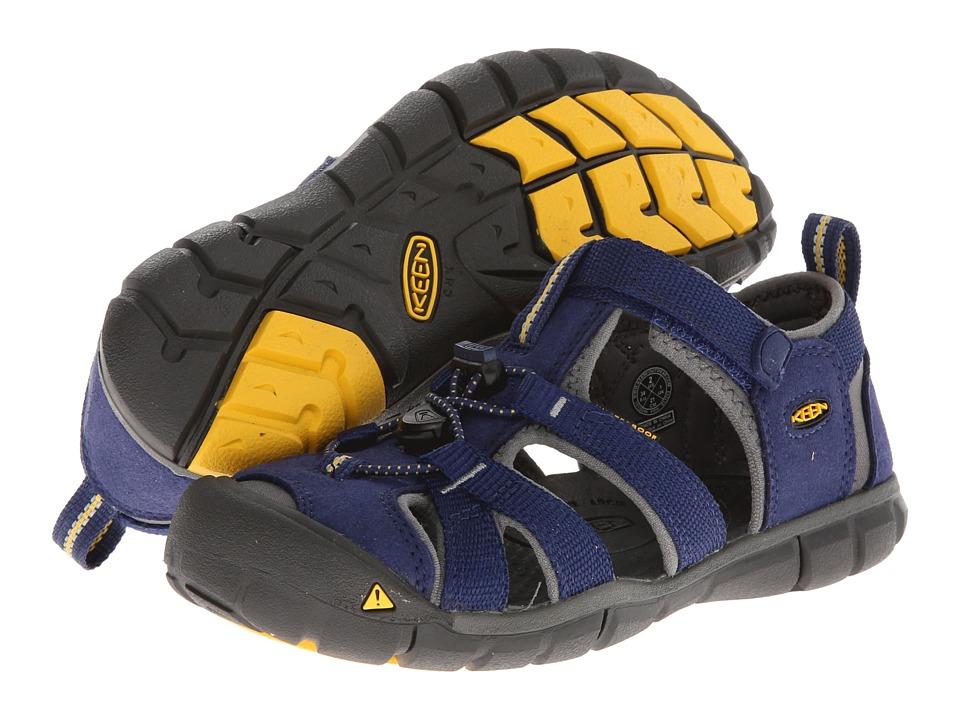 Keen Kids Seacamp II CNX (Little Kid/Big Kid) (Blue Depths/Gargoyle) Kids Shoes