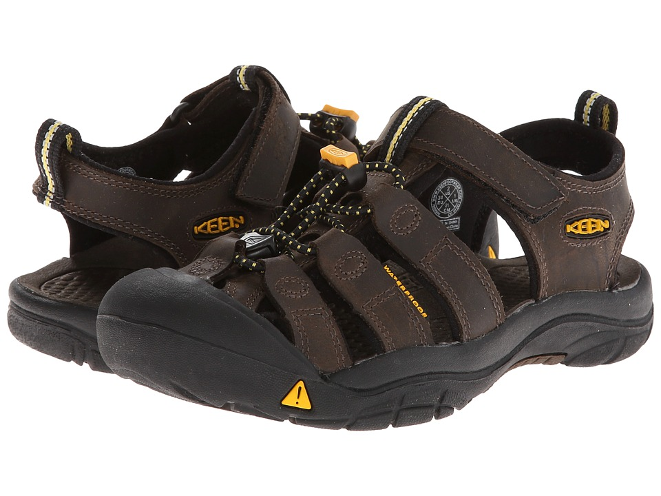 Keen Kids Newport Premium (Little Kid/Big Kid) (Dark Brown) Boys Shoes