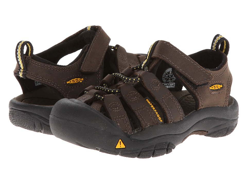 Keen Kids Newport Premium (Toddler/Little Kid) (Dark Brown) Boys Shoes