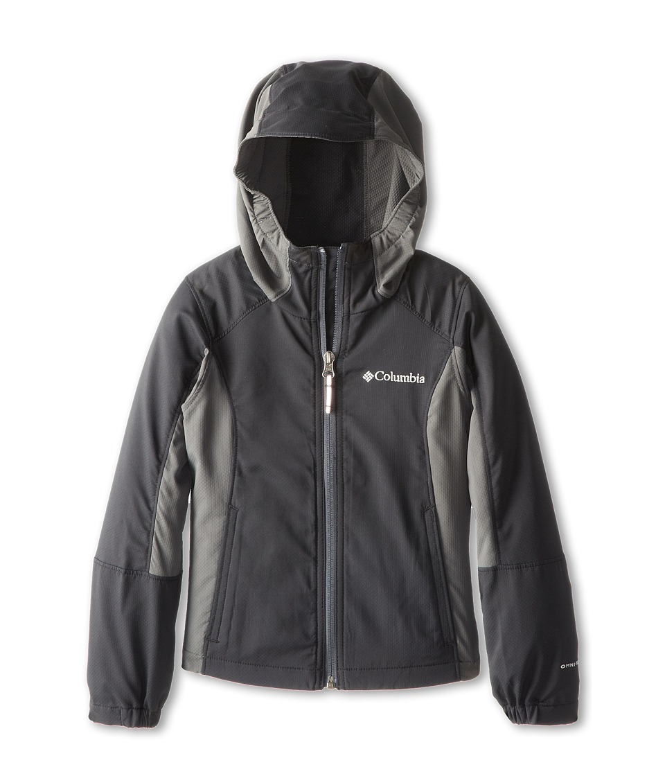 Columbia Kids - SplashFlash Hooded Softshell Jacket (Little Kids/Big Kids) (Black/Grill 2) Boy