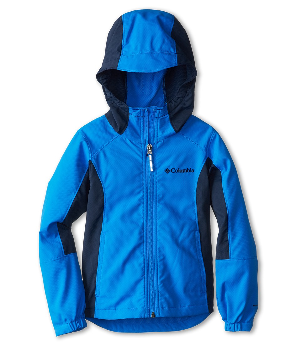 Columbia Kids - SplashFlash Hooded Softshell Jacket (Little Kids/Big Kids) (Hyper Blue/Collegiate Navy) Boy