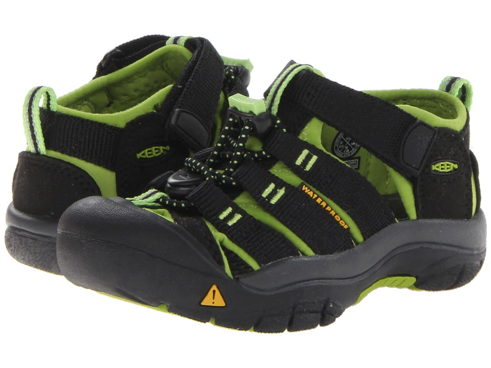 Keen Kids Newport H2 (Toddler/Little Kid) (Black/Lime Green) Boys Shoes