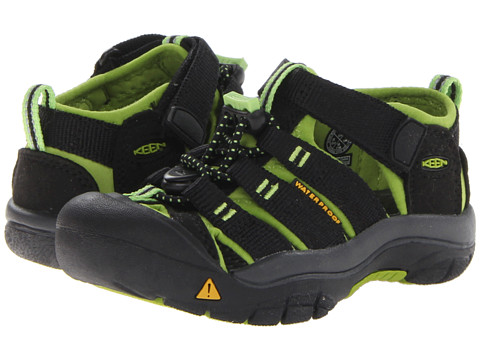 Keen Kids Newport H2 (Toddler/Little Kid) - Black/Lime Green