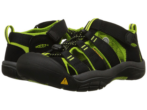Keen Kids Newport H2 (Toddler) - Black/Lime Green