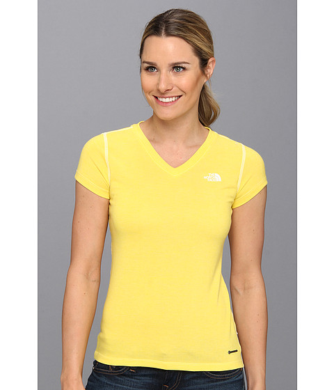 The North Face - S/S RDT V-Neck Tee (Lightning Yellow Heather) - Apparel