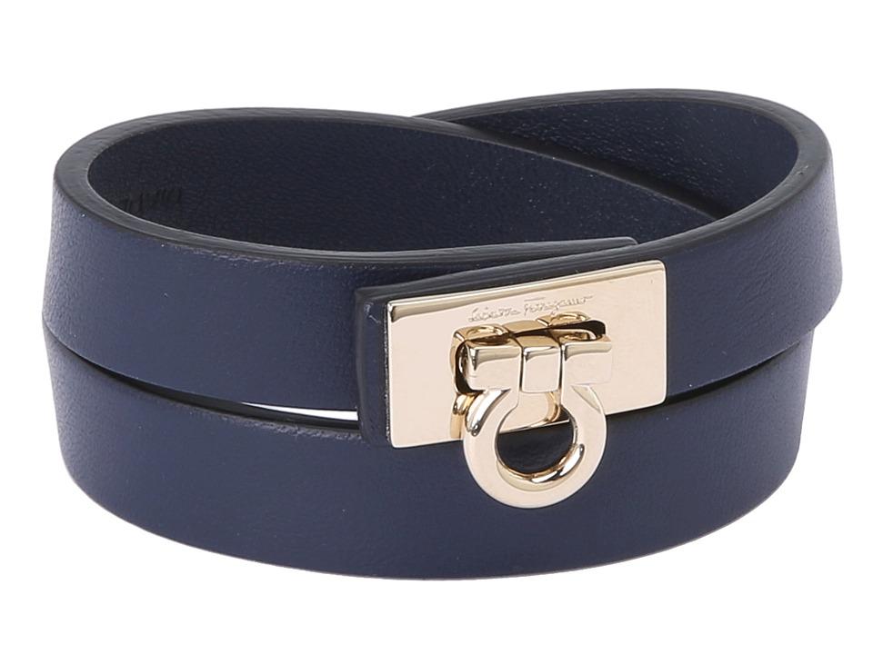 Salvatore Ferragamo 1530 BR Gancet 2G Oxford Blue/Oro Bracelet