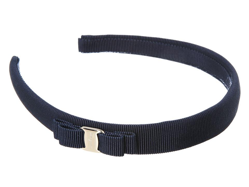 Salvatore Ferragamo 0086 P.TA Vara PI Blueberry/Oro Headband