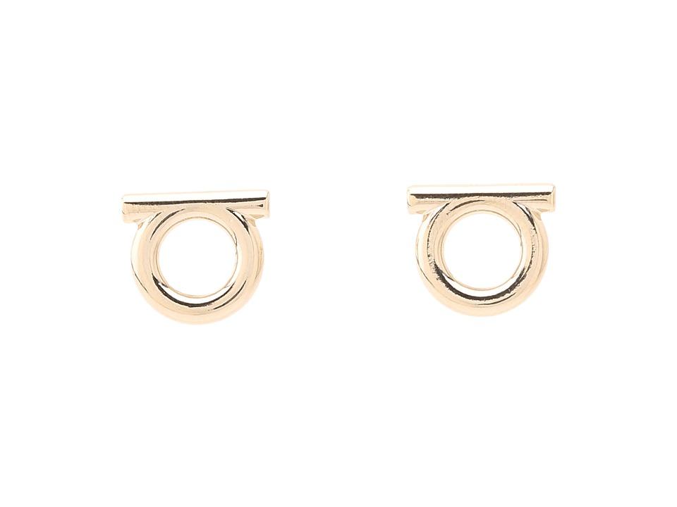 Salvatore Ferragamo Brand Stud Earrings Oro Ch. Earring