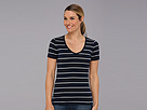 Icebreaker Tech Short Sleeve V Stripe